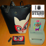 Steno Style Cat With Glasses