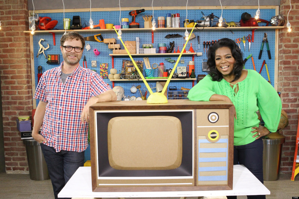 Oprah Winfrey and Rainn Wilson